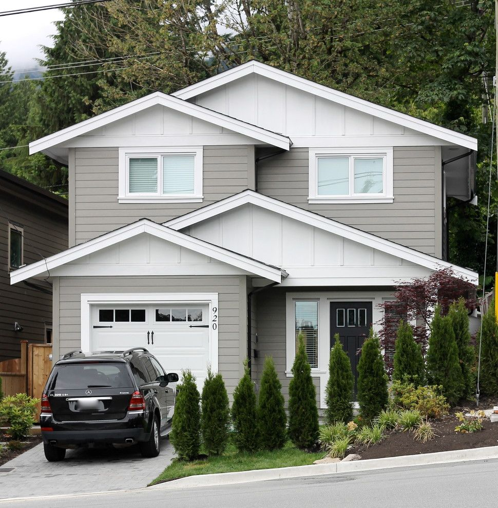 Paint Aluminum Siding for a Traditional Exterior with a Board and Batten Siding and North Vancouver New Home by Mccabe Design & Interiors