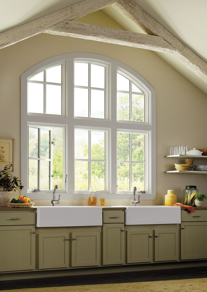 Paint Aluminum Siding for a Traditional Kitchen with a Marvin and Marvin Windows and Doors in Transitional Homes by Marvin Windows and Doors