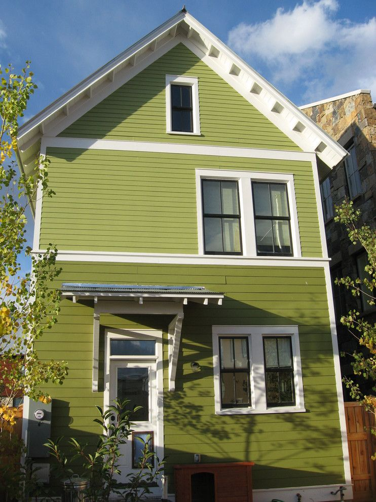 Paint Aluminum Siding for a Victorian Exterior with a White Wood and Green House   1152   South Main Colorado by Kenny Craft,  Cnu  Leed Ap