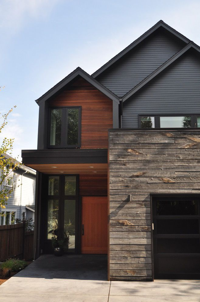 Painting Vinyl Siding for a Contemporary Exterior with a Mixed Siding and Magnolia Residence by Ryan Rhodes Designs, Inc.
