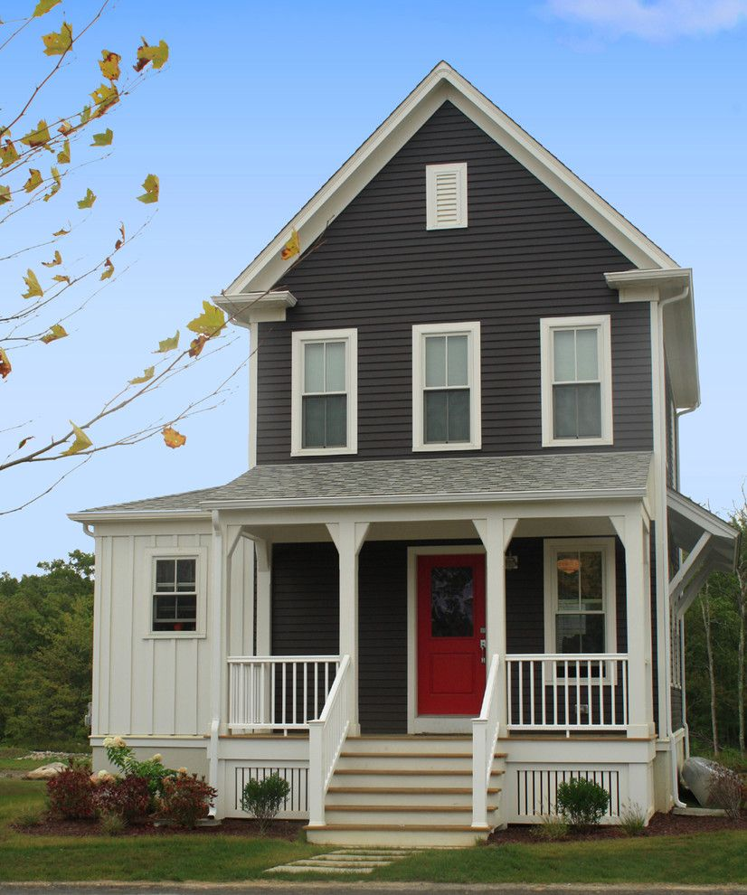 Painting Vinyl Siding for a Farmhouse Exterior with a Farmhouse and Sandywoods Farm by Union Studio, Architecture & Community Design