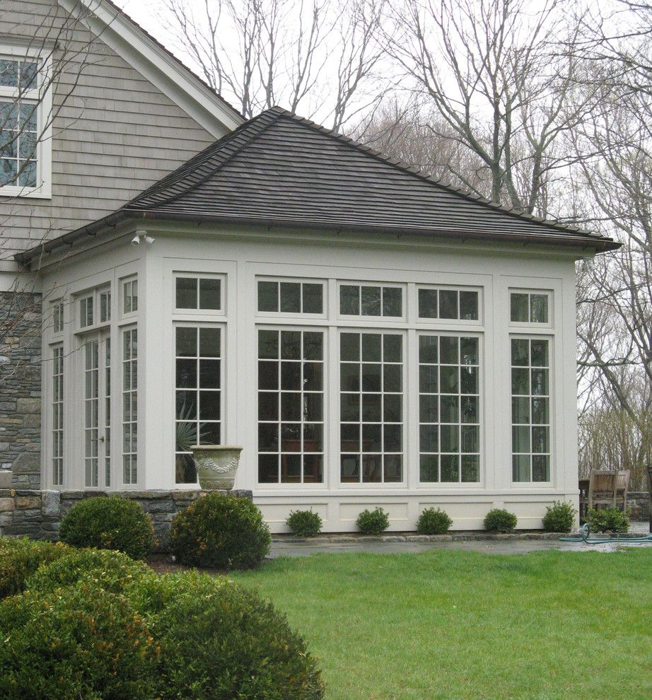 Painting Vinyl Siding for a Traditional Exterior with a Vinyl Stone Siding and Country Residence by Erskine Associates Llc