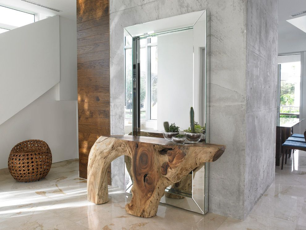 Palecek for a Modern Hall with a Floor Mirror and Fernwood Rd. by Dida Home