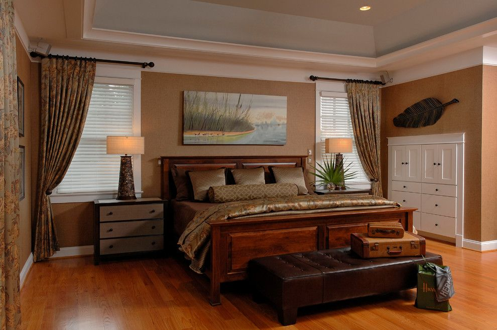 Palecek for a Traditional Bedroom with a Custom Art and Craftsman Arlington, Va by Kristin Drohan Collection and Interior Design