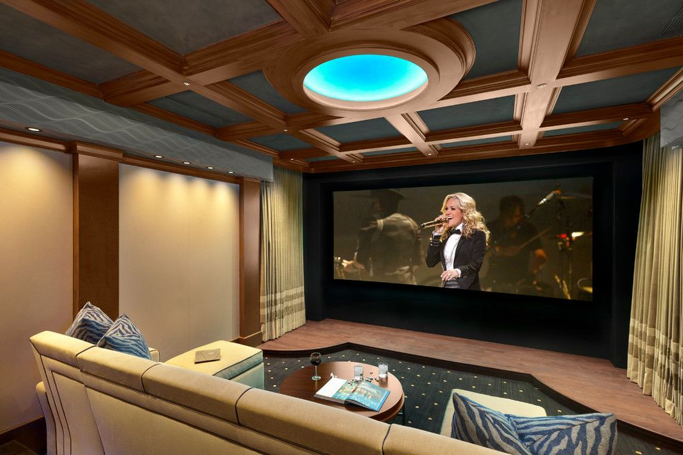 Palisades Movie Theater for a Modern Home Theater with a Custom and Chambers St by Phoenix Audio Video