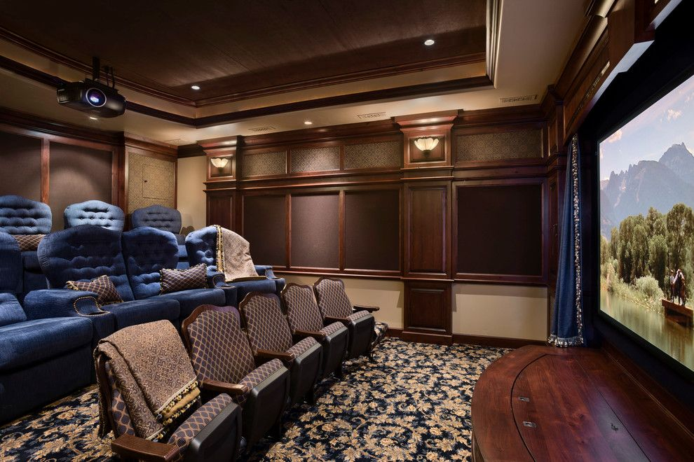 Palisades Movie Theater for a Rustic Home Theater with a Theater Seating and Moonlight Ranch Residence by Locati Architects