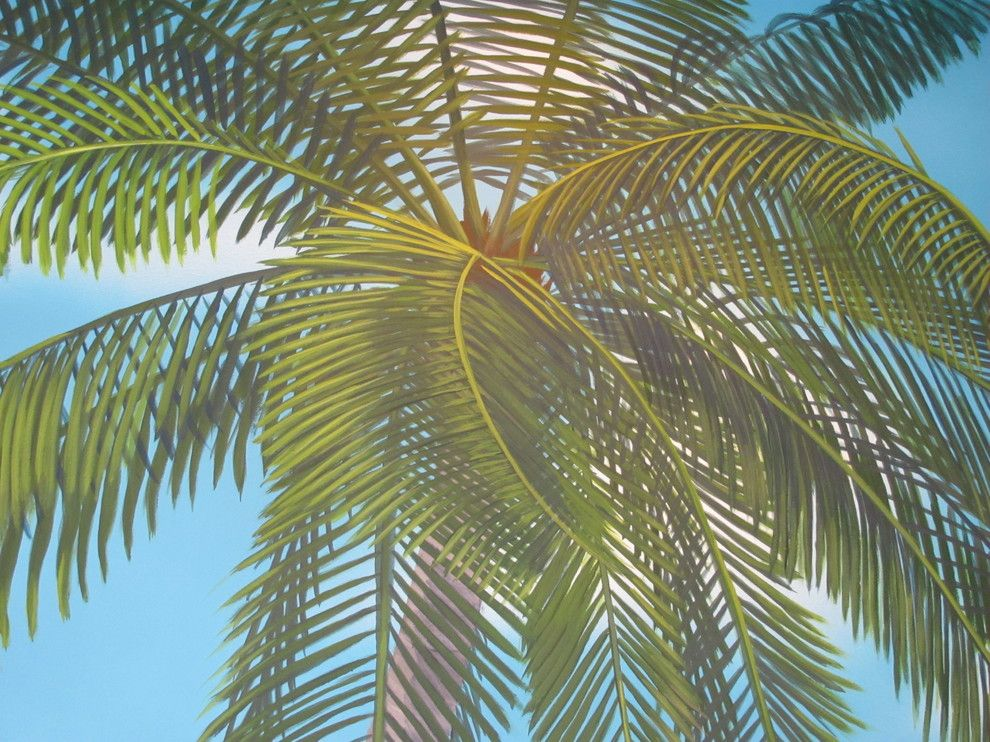 Palm Frond for a Tropical Spaces with a Trompe Loeil and Marco Island Fl Mural Project by Art Faux Designs Inc.
