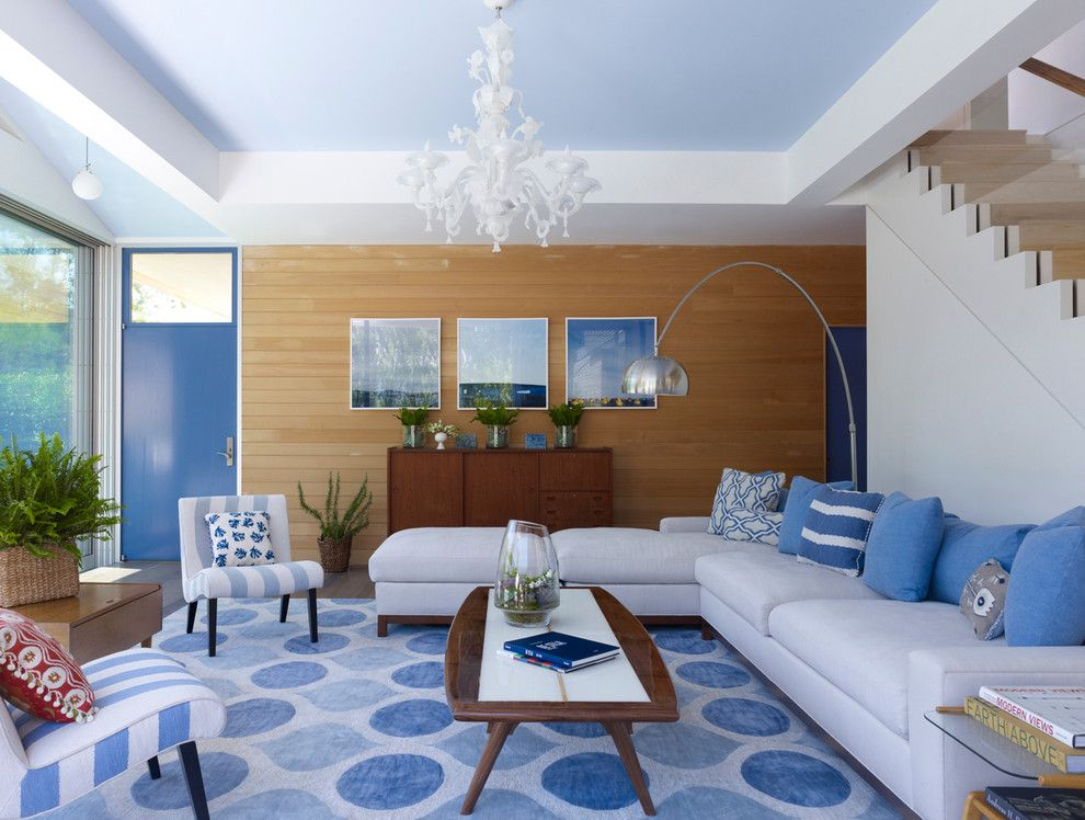 Pantone Color Wheel for a Contemporary Living Room with a Blue Pillows and Modern Summer House by Austin Patterson Disston Architects