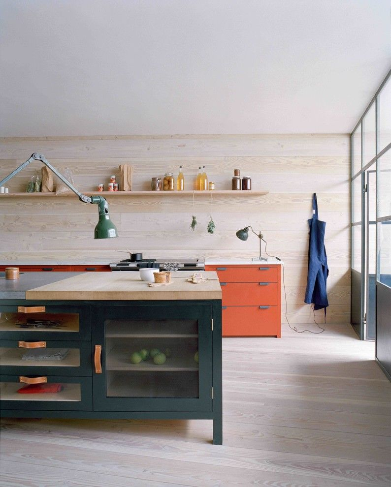 Pantone Color Wheel for a Scandinavian Kitchen with a Wooden Kitchen Floor and Osea Kitchen by Plain English