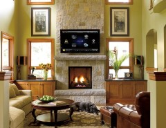 Paoli Furniture for a Craftsman Family Room with a Plaster and FAMILY ROOMS by Magnolia Design Center