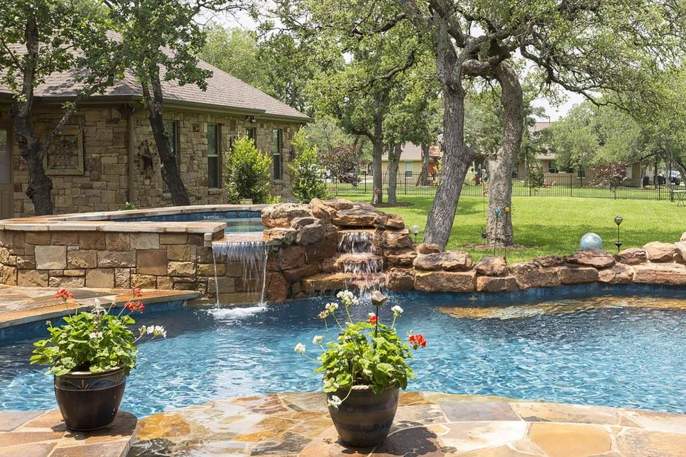 Paradise Pools and Spas for a Contemporary Pool with a Custom Pools and Tricky Custom Pool   Freeform Pool by Paradise Pools & Spas