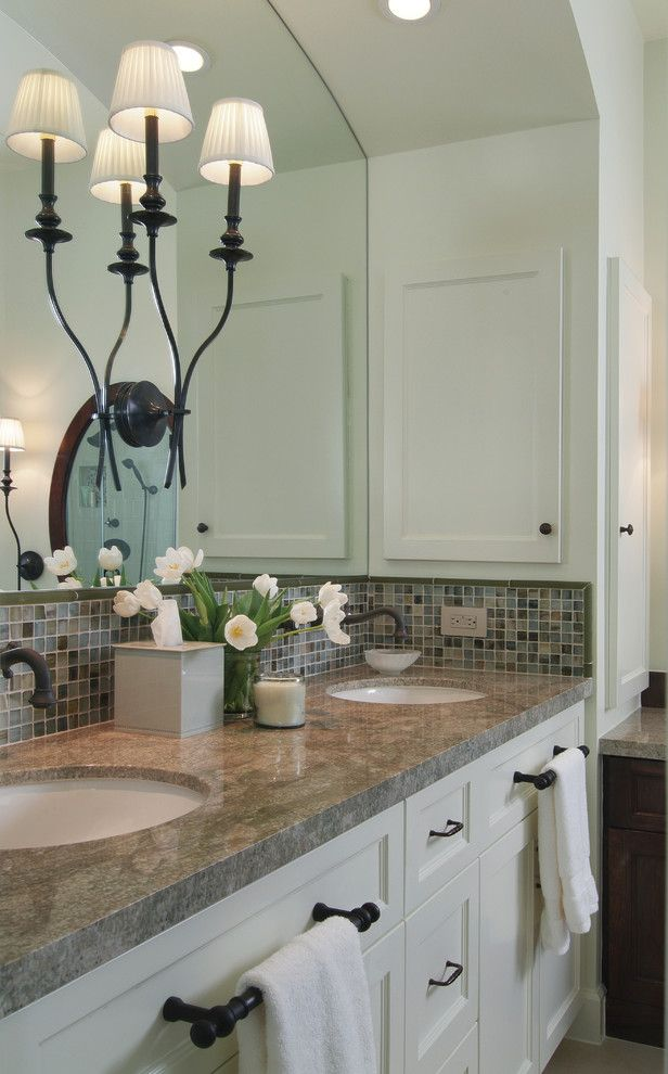 Paramus Lighting for a Traditional Bathroom with a White Bathroom and Bathroom Lighting Fixtures by Lightwaves Nj