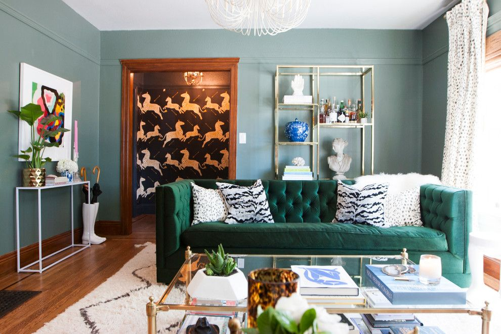 Pasargad for a Eclectic Living Room with a Eclectic and My Houzz: Berkeley Home by Le Klein