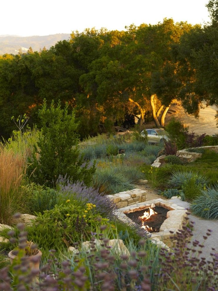 Paso Robles Theater for a Contemporary Landscape with a Modern and Wine Country Residence by Jeffrey Smith