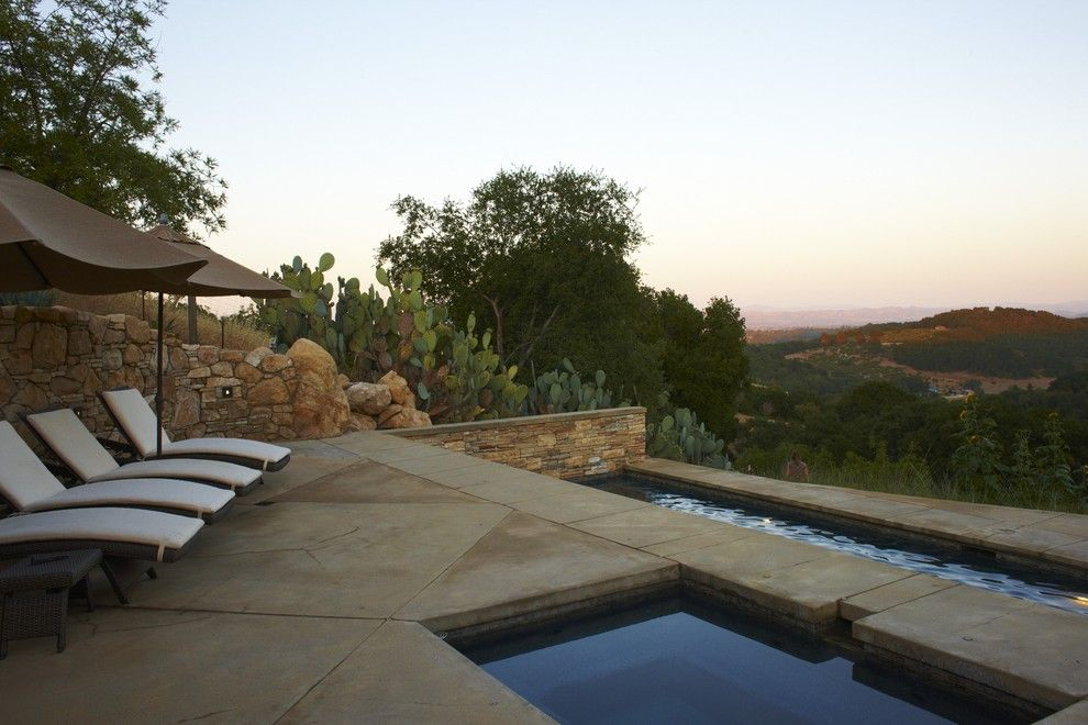 Paso Robles Theater for a Mediterranean Pool with a Pool and Wine Country Residence by Jeffrey Smith