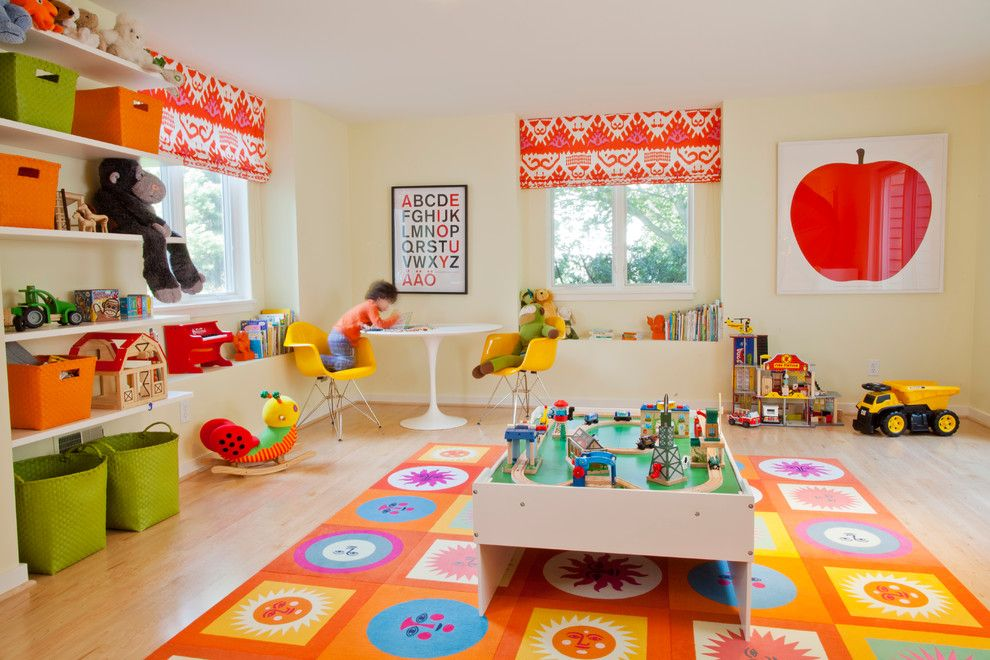 Patcraft Carpet for a Contemporary Kids with a Kids Playroom and Private Residence   Rochester by Leighton Design Group