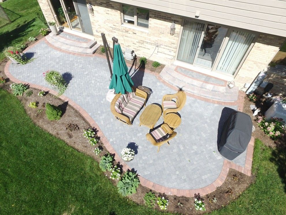 Pavestone for a  Patio with a Outdoor Design and Patio by Pavestone Brick Paving Inc.