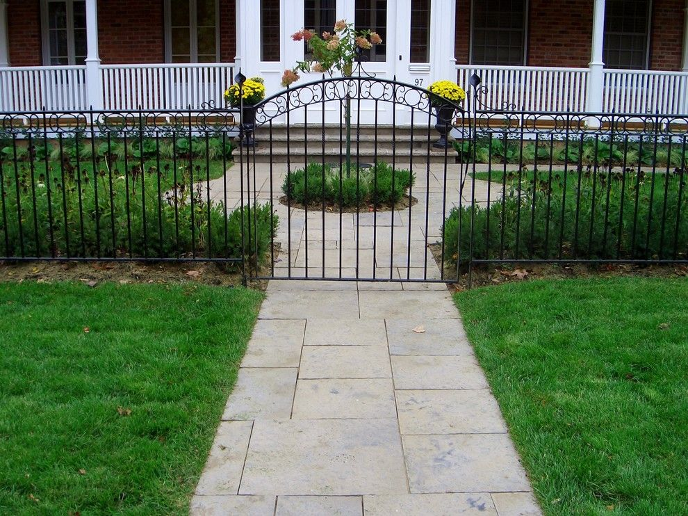Pavestone for a Rustic Landscape with a Entry Gate and Avon River Lookout by Ross Yantzi's Pavestone Plus Ltd.