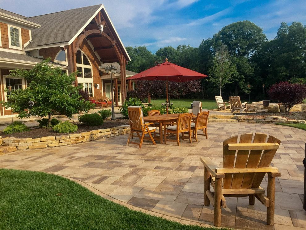 Pearle Vision Omaha for a Craftsman Patio with a Landscape Contractor and Paver Patios, Stone Patios, Retaining Walls | Albany, Troy, Clifton Park, Latham by Pearl Landscaping & Patio Company