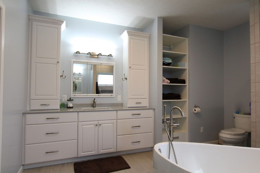 Pearle Vision Omaha for a Modern Bathroom with a Master Bath and Great Modern Space by Merritt's Quality Cabinets