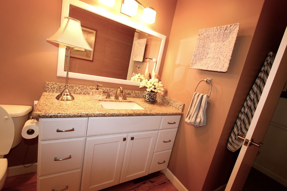 Pearle Vision Omaha for a Traditional Spaces with a Bathroom and Tastefully Done by Merritt's Quality Cabinets
