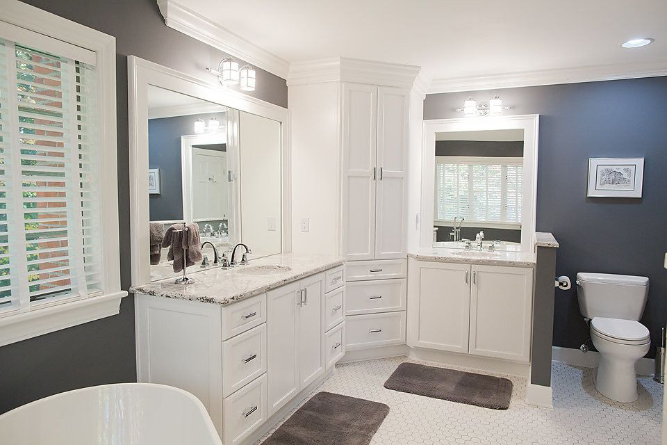 Pecan Plantation for a Contemporary Bathroom with a Stainless Steel Drawer Pulls and Beautiful Bathroom by Bertch by Curtis Lumber Ballston Spa