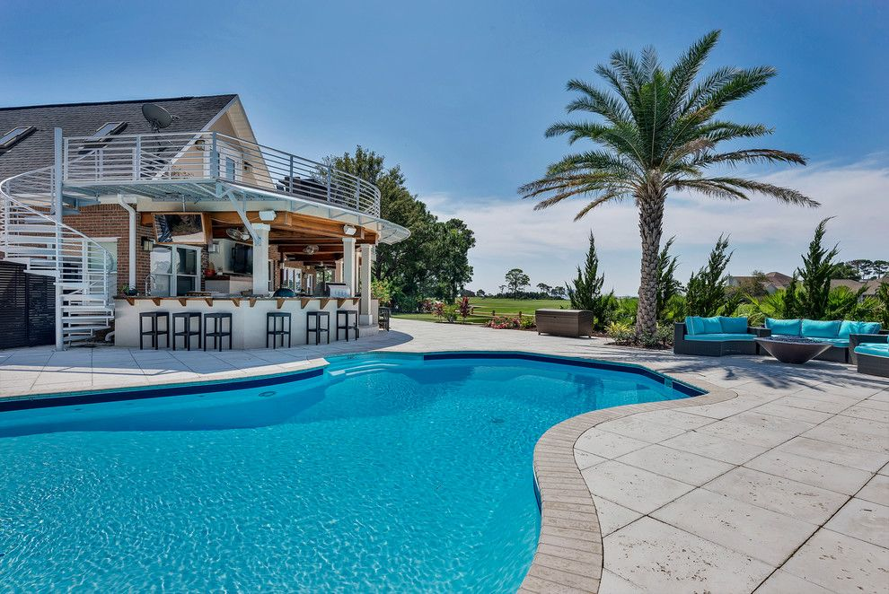 Pensacola Pools for a Contemporary Pool with a Real Estate Photography Pensacola and 3752 Rajah Cove Gulf Breeze, Fl by Emerald Coast Real Estate Photography
