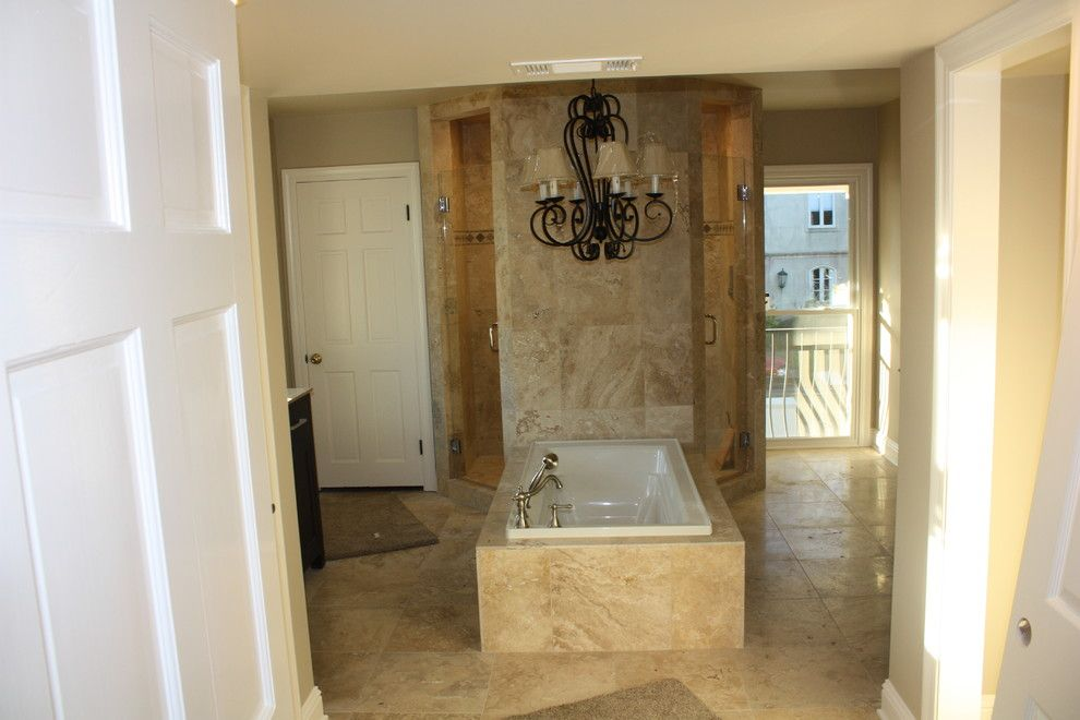 Penthouse New Orleans for a Transitional Bathroom with a Chandeliers and Bathrooms by Ses Enterprises, Llc