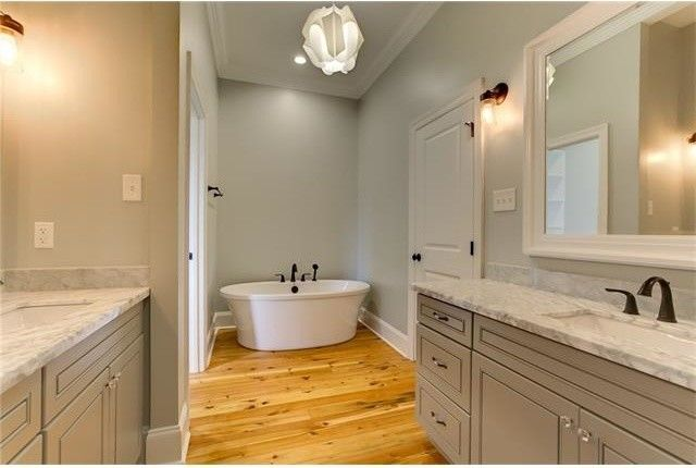 Penthouse New Orleans for a Transitional Bathroom with a Lighting and Bathrooms by Ses Enterprises, Llc