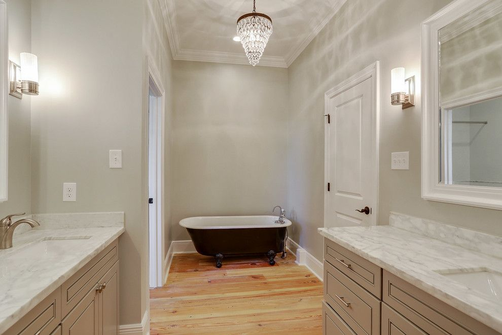 Penthouse New Orleans for a Transitional Bathroom with a Vanity Top and Bathrooms by Ses Enterprises, Llc