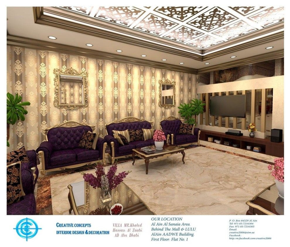 Pepco Energy Services for a Traditional Spaces with a Renovation and Khaled Hassan Al Zaabi Ad Abu Dhabi Villa 2014 by Ccg Creative Concepts Group Interior Design & Deco
