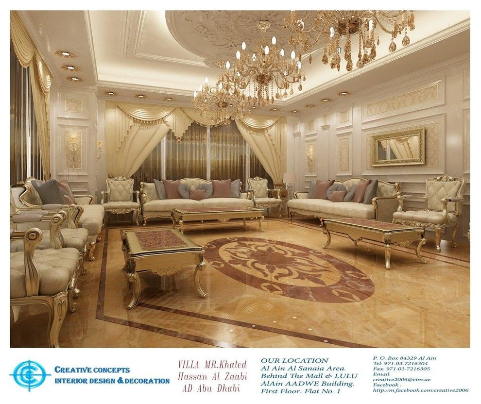 Concepts Group Interior Design Deco Pepco Energy Services For A Traditional Spaces With Renovations And Khaled Hassan Al Zaabi Ad