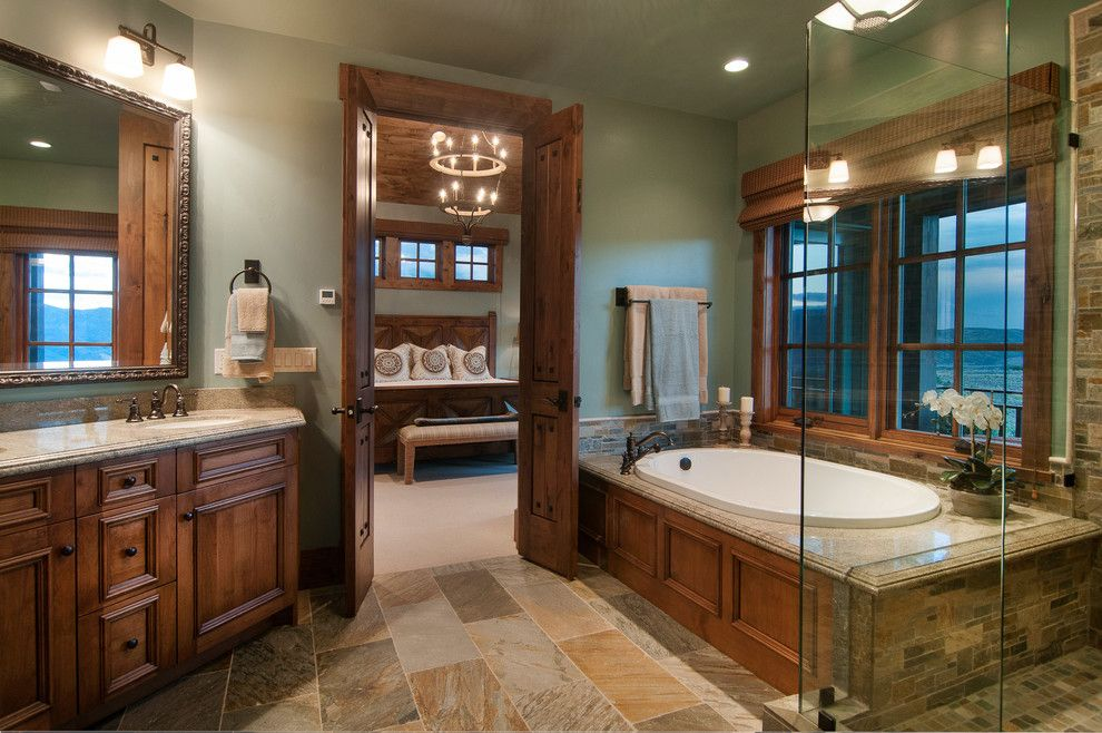 Perry Homes Utah for a Rustic Bathroom with a Double Doors and 2013 Park City Showcase of Homes by Utah Home Builder, Cameo Homes Inc. by Cameo Homes Inc.