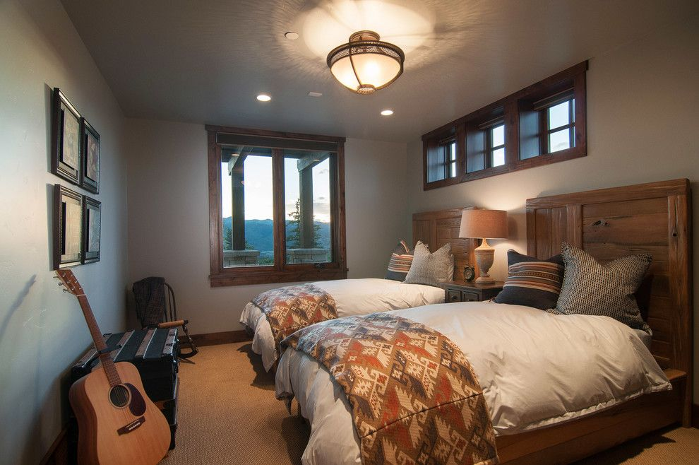 Perry Homes Utah for a Rustic Bedroom with a Acoustic Guitar and 2013 Park City Showcase of Homes by Utah Home Builder, Cameo Homes Inc. by Cameo Homes Inc.