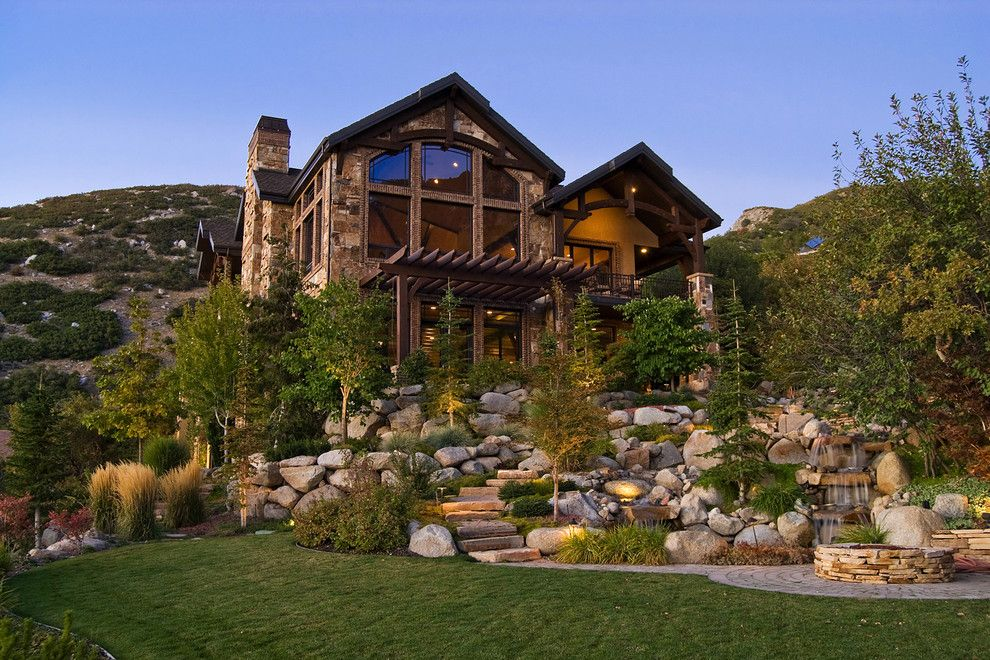 Perry Homes Utah for a Rustic Exterior with a Lodge and Salt Lake City, Utah Luxury Home by Markay Johnson Construction by Markay Johnson Construction