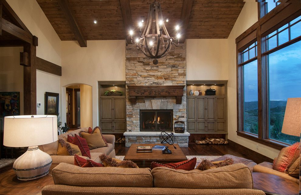 Perry Homes Utah for a Rustic Living Room with a Arch and 2013 Park City Showcase of Homes by Utah Home Builder, Cameo Homes Inc. by Cameo Homes Inc.