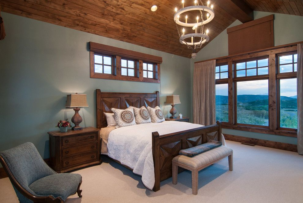 Perry Homes Utah for a Traditional Bedroom with a Vaulted Ceiling and 2013 Park City Showcase of Homes by Utah Home Builder, Cameo Homes Inc. by Cameo Homes Inc.