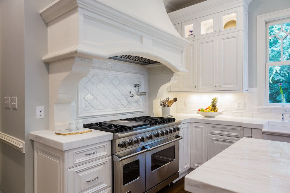 Pf Changs Raleigh for a Traditional Kitchen with a White Calcutta Marble and Wakefalls Drive Kitchen   Raleigh by Catherine Nguyen Photography