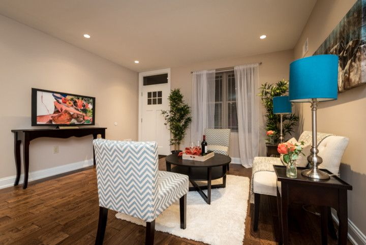 Philadelphia Pa Points of Interest for a Contemporary Living Room with a Point Breeze and Manton St, Philadelphia Pa by Staging Homes to Sell by Elizabeth