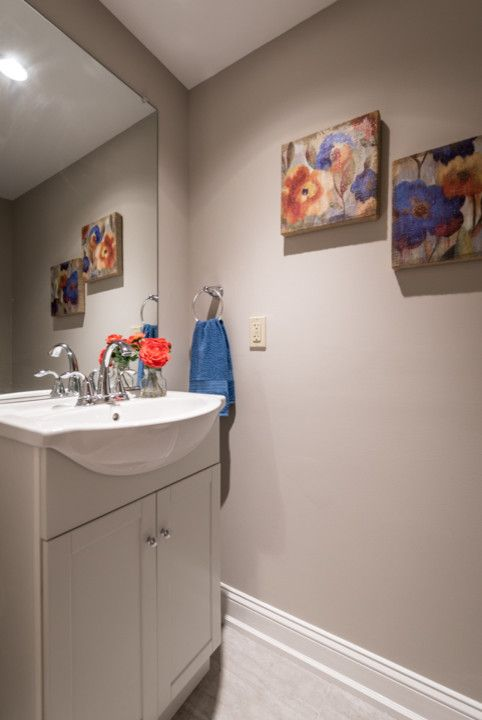 Philadelphia Pa Points of Interest for a Contemporary Powder Room with a Point Breeze and Manton St, Philadelphia Pa by Staging Homes to Sell by Elizabeth
