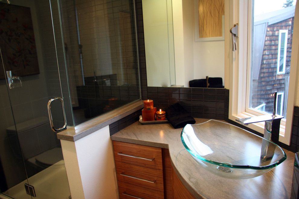Phinney Ridge for a Asian Bathroom with a Corian Countertops and Westchester Lagoon (Anchorage) Hall Bath by Chanelle M Woodis