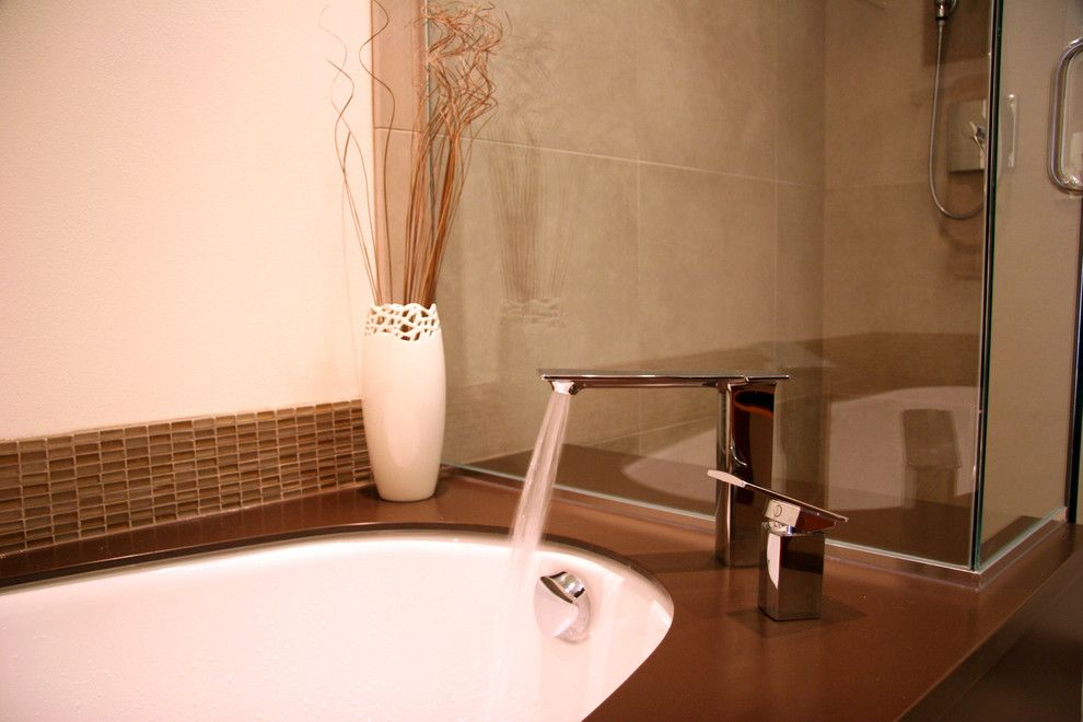 Phinney Ridge for a Asian Bathroom with a Kohler Tub Filler and Westchester Lagoon (Anchorage) Master Bath by Chanelle M Woodis