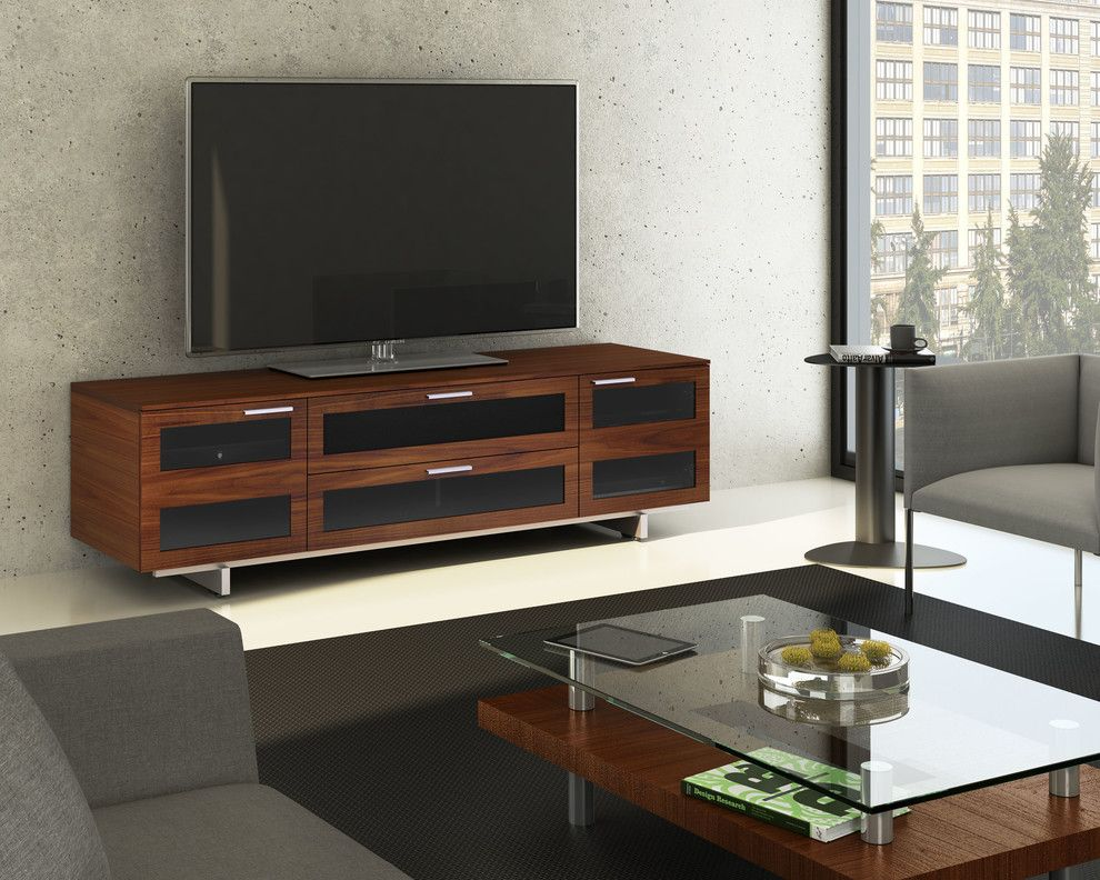 Phipps Movie Theater for a Contemporary Living Room with a Chocolate Brown and Bdi Furniture by Bdi Furniture