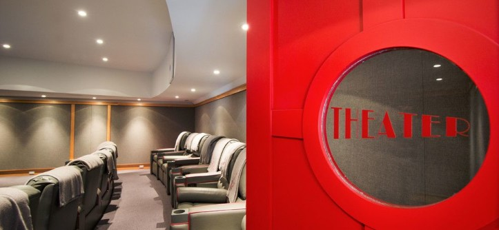 Phipps Movie Theater for a Traditional Home Theater with a Historic and Theater by Phinney Design Group