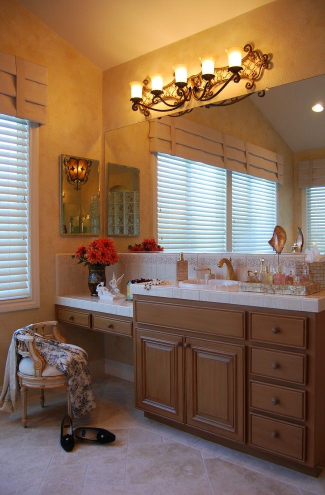Phylrich for a Mediterranean Bathroom with a Faux Finish and San Ramon by Suzanne Myers   Elite Interior Design