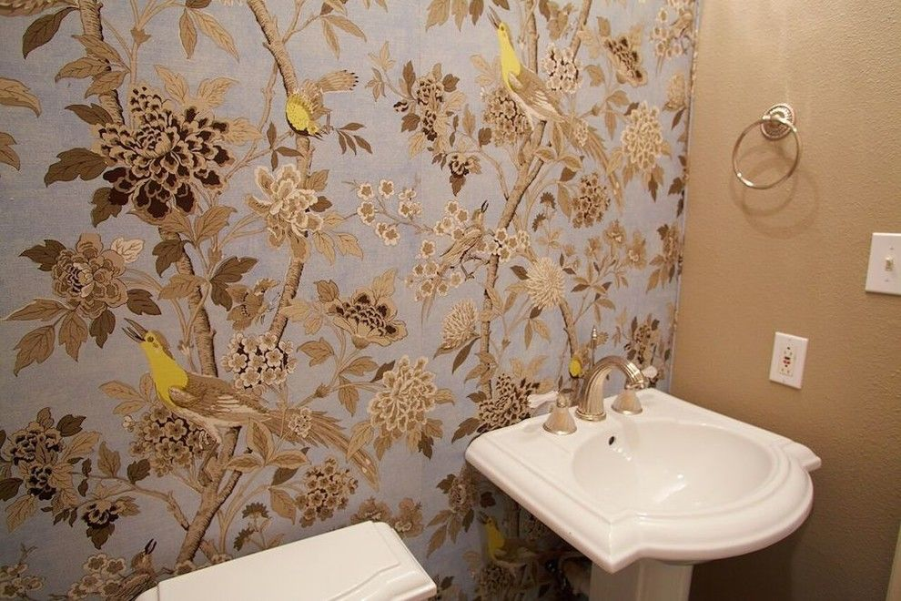 Phylrich for a Traditional Bathroom with a Visual Comfort Lighting and Power Rooms Design by Luxe Design, Llc