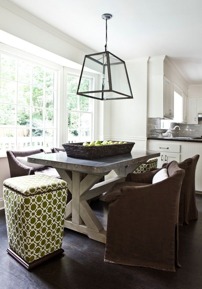 Picnic Basket Nyc for a Contemporary Dining Room with a Slipcover Dining Chairs and Stern Turner Home by Erica George Dines Photography