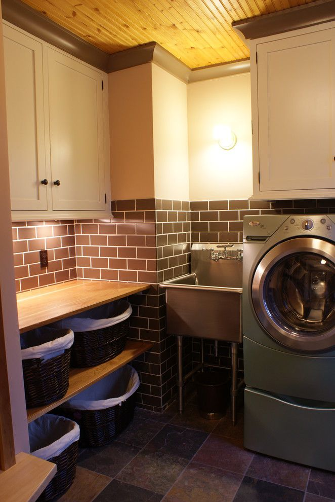 Picnic Basket Nyc for a Eclectic Laundry Room with a Eclectic and Laundry Room by Lankford Design Group