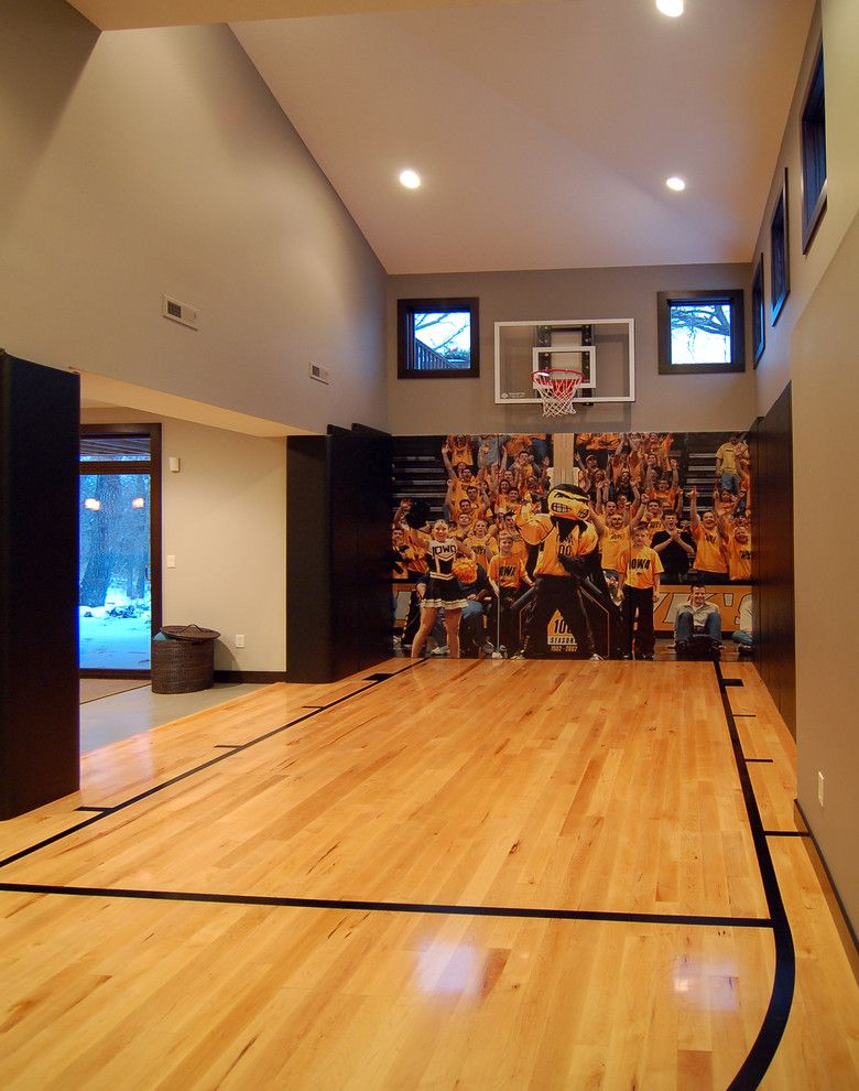 Pictures of Basketballs for a Modern Home Gym with a Windows and 2010 Tour of Remodeled Homes by Kaufman Construction Design and Build