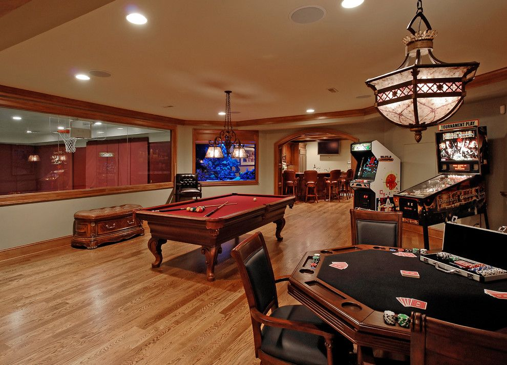 Pictures of Basketballs for a Traditional Basement with a Outdoor Kitchen and Design Build Renovation in Potomac, Md by Bowa